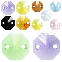 CRYSTALLIZED™ #6404 Crystal Two Hole Octagon Pendants
