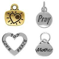 Zinc Alloy Message Pendants