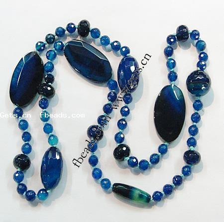 Agate Necklace Blue Agate