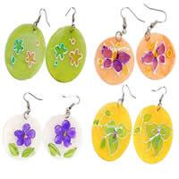 Painted Shell Earring