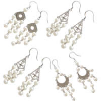 Sterling Silver Pearl Chandelier Earring
