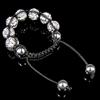 Rhinestone Shamballa Bracelets, with Hematite, handmade, with Czech rhinestone, Length:6-10 Inch, Sold By Strand