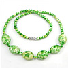 Gemstone Necklaces, Rain Flower Stone, 18x13x8mm, 5mm, Length:Approx 17 Inch, Sold By Strand