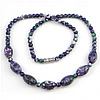 Gemstone Necklaces, Rain Flower Stone, 14x9mm, 5mm, Sold Per Approx 17 Inch Strand