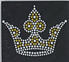 Rhinestone Hot Fix Motif, Crown, 265x175mm, Sold By PC