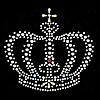 Rhinestone Hot Fix Motif, Crown, Sold By PC