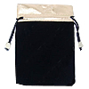 Velvet Jewelry Pouches, Velveteen, with Nylon Cord, Rectangle, more colors for choice, 100PCs/Bag, Sold By Bag