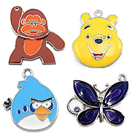 Animal Style Enamel Pendants