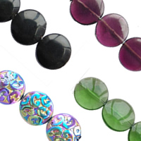 Flat Round Crystal Beads