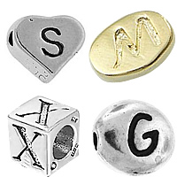 Sterling Silver Alphabet Beads