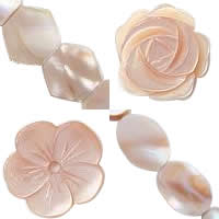 Natural Pink Shell Beads