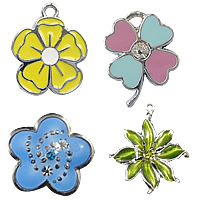 Flower Enamel Pendants