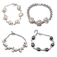 Brass Setting Pearl Bracelets