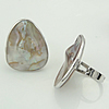 Shell Finger Ring, Teardrop, double-sided, Hole:Approx 17mm, Sold By PC