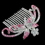 Decorative Hair Combs, Zinc Alloy, wi