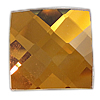 Faceted Glass Cabochon, Square, more colors for choice, 18x4.7mm, Sold By PC