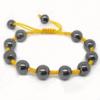 Hematite Shamballa Bracelets, with Nylon Cord, handmade, 10mm, Length:9-10 Inch, Sold By Strand