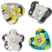 Rhinestone Lampwork Beads