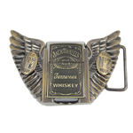Zinc Alloy Belt Buckle, Wing Shape, plated, nickel, lead & cadmium free, 110x60x20mm, Sold By PC