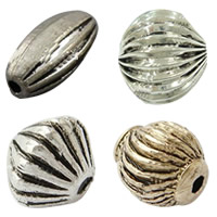 Zinc Alloy Corrugated Beads