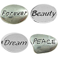 Zinc Alloy Message Beads