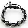 Hematite Shamballa Bracelets, with Nylon Cord, handmade, Length:7-10 Inch, Sold By Strand
