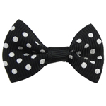 Ribbon Bow, with round spot pattern, more colors for choice, 37x24mm, 100PCs/Bag, Sold By Bag