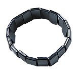 Hematite Bracelet, Rectangle, different styles for choice, Grade A, 18x10x4mm, Length:7.5 Inch, Sold By Strand
