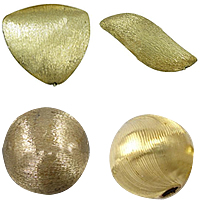 Brass Brushed Beads