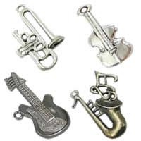 Musical Instrument Shaped Zinc Alloy Pendants