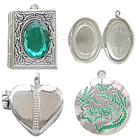 Zinc Alloy Locket Pendants