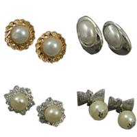 Plastic Pearl Metal Alloy Earring