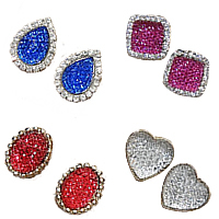 Resin Metal Alloy Earring