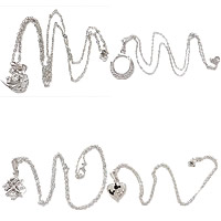 Rhinestone Metal Alloy Necklace
