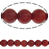Natural Coral Beads, Round, red, Grade AA, Hole:Approx 0.51mm, Length:Approx 16 Inch, 80PCs/Strand, Sold By Strand