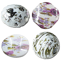 Imitation Porcelain Acrylic Beads