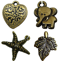 Antique Bronze Color Plated Acrylic Pendants