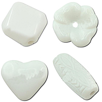 Solid White Acrylic Beads