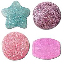 Glitter Acrylic Beads