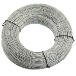 Iron Wire, with Plastic, white, 1mm, 300m/Lot, Sold By Lot