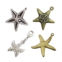 Brass Star Pendants