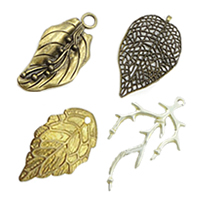 Brass Leaf Pendants