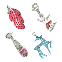 Enamel Stainless Steel Pendants
