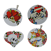 Decal Stainless Steel Pendants