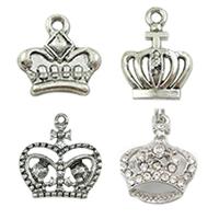 Zinc Alloy Crown Pendants