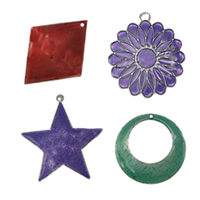 Enamel Iron Pendants