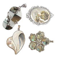 Zinc Alloy Shell Pendants