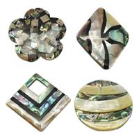 Mosaic Pattern Shell Pendants