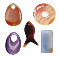 Mixed Agate Pendants