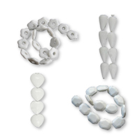 White Porcelain Beads